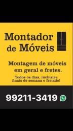 Título do anúncio: Montador de móveis e FRETES