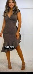 Vestido lindo em lourex