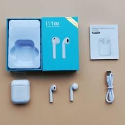 Título do anúncio: Fone De Ouvido i11 Wireless Bluetooth 5.0, entregamos e ac. cartões