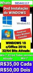 Título do anúncio: DVD Boot Windows Instalaçao 7 8 10