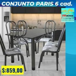 Título do anúncio: Mesa com 6 cadeiras frete gráti