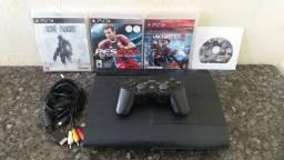 Título do anúncio: PlayStation 3 desbloqueado com jogos