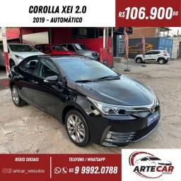 Título do anúncio: Toyota Corolla xei 1.8 automático 2019!!66 mil km