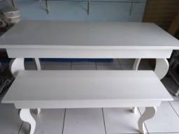 Título do anúncio: Mesa branca grande e pequena