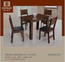 Título do anúncio: Mesa Com 4 Cadeiras Milena em MDF #Entrega e Montagem Grátis