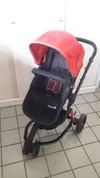Carrinho 1st safety com bebe conforto e base para carro