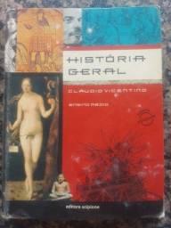 Livro : História Geral Cláudio vicentino - Ensino Médio