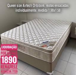 Título do anúncio: cama queen size airtech\\ mega promoção