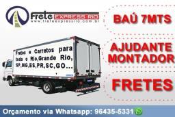 Mudanças Comerciais e Residenciais / Caminhão baú de 6 metros (grande)