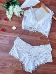 conjunto lingerie de renda