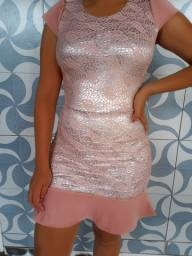 Vestido rosê M