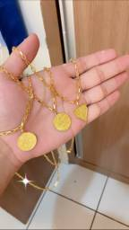 Cordão 100% moeda antiga, garantia eterna
