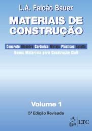 Materias de construção Livro - Materiais de Construção - Vol. 1Falcão Bauer Volume 1