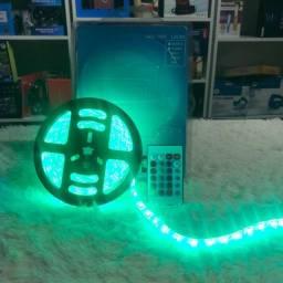 Fita Led Rgb 5050 Rolo 5m 300 Leds Ip65 + Controle + Fonte