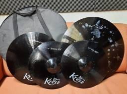 Kit De Pratos Krest L Series Black + Bag (não Tem + Barato)