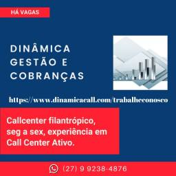 Título do anúncio: Operador de Telemarketing Filantrópico, na Serra (ES).