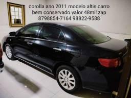 Corolla ano 2011 modelo altis valor 48mil