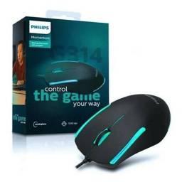 Título do anúncio: mouse gamer (com fio) 1200dpi 3 botões philips - g314 spk9314