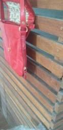 linda bolsa de couro legitimo antonella na cor vermelha
