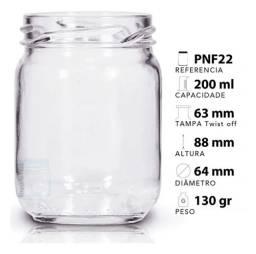 38 Potes De Vidro Conserva 200ml Com Tampas E Lacre