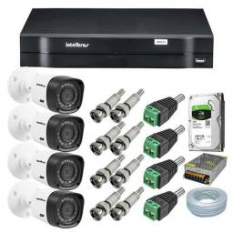 Kit com 6 câmera de segurança com 20mts te alcance