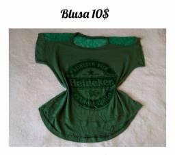 10$ Cada Blusa / Vestido 10$ Tm M SÓ FACILITO PELO ALVORADA