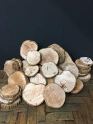 Bolachas de madeira rustica