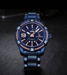 Relógio Naviforce Importado, Azul Intenso