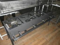 Título do anúncio: fogão 4 bocas em linha - alta pressão - super reforçado