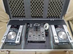 Kit CDJ + Mixer + som