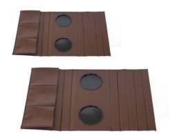 Porta copo pra sofa de courino unidade 36,00 disponível na cor marrom