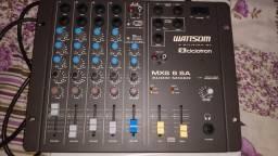 Mesa de som - wattsom mxs 6a mesa audio mixer