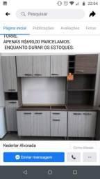 Cozinha modulada usada