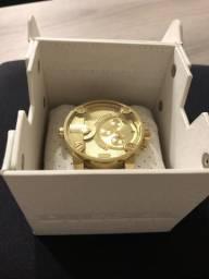 Relógio Diesel Dz7287 Little Daddy Original Dourado 52 mm
