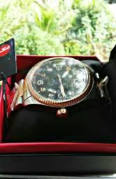 Relógio marca technos original bicolor
