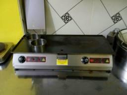 Chapa para hambúrguer elétrica 220 volt
