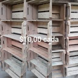 Caixote de madeira sem lixar, tenho muitos