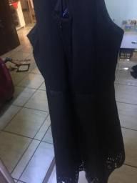 Vestido em couro