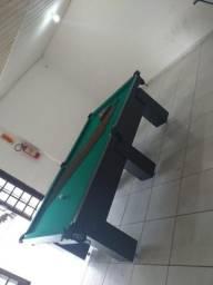 Mesa de Bilhar Cor Preta Tx Tecido Verde Modelo KYA0433