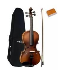 Violino 4/4 Vogga Envelhecido Fosco Estojo-arco-breu