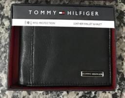 Carteira Tommy Hilfiger Original Em Couro Legitimo