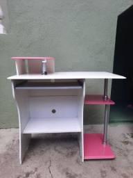 Mesinha escrivaninha Rosa e Branca