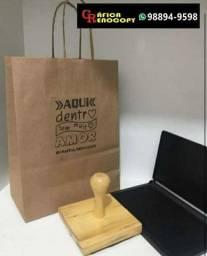 Carimbo de madeira para sacola
