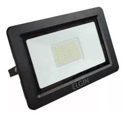 Refletor Led 100w Slim Elgin Bivolt Branco Frio IP65 Garantia 1 ANO - Loja Natan Abreu