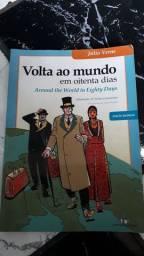 Livro volta ao mundo em 80 dias versão Bi lingue, Arround the world in eighty days