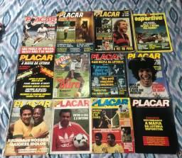 12 revistas 11 Placar e 1 manchete esportiva