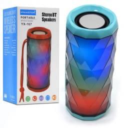 Caixa de som Bluetooth Yx-167 H'maston com luzes <br>(Fazemos entregas)