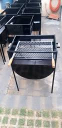 Churrasqueiras de tambor reforçada,com grelha de inox