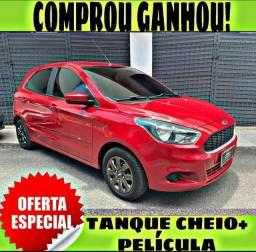 TANQUE CHEIO SO NA EMPORIUM CAR!!!! FORD KA SE 1.0 ANO 2018 COM MIL DE ENTRADA