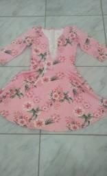 Vestido rosa florido